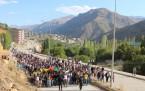Şemdinli'de Kobanê yürüyüşü