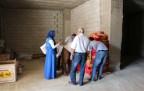 Şemdinli'de kurulan yardım  çadırına ilgi