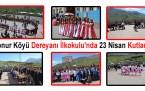 Konur Köyü Dereyanı İlkokulunda 23 Nisan Kutlaması
