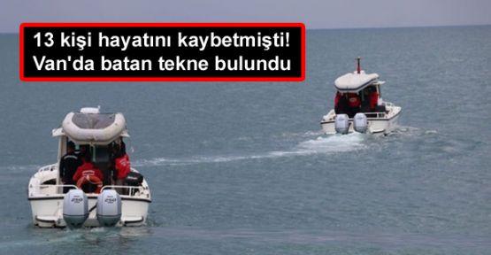 13 kişi hayatını kaybetmişti! Van'da batan tekne bulundu