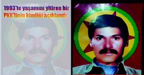 1993'te yaşamını yitiren bir PKK'linin kimliği açıklandı