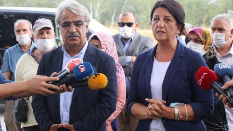 Buldan ve Sancar, Demirtaş'ı ziyaret etti: Başka parti iddiaları beni üzer, hatta öfkelendirir