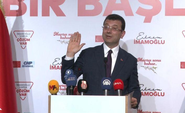 Ekrem İmamoğlu: İstanbul'a özel çözümlerle sahaya çıkacağız