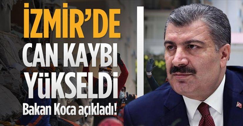 Bakan Fahrettin Koca: İzmir'de can kaybı 35'e yükseldi