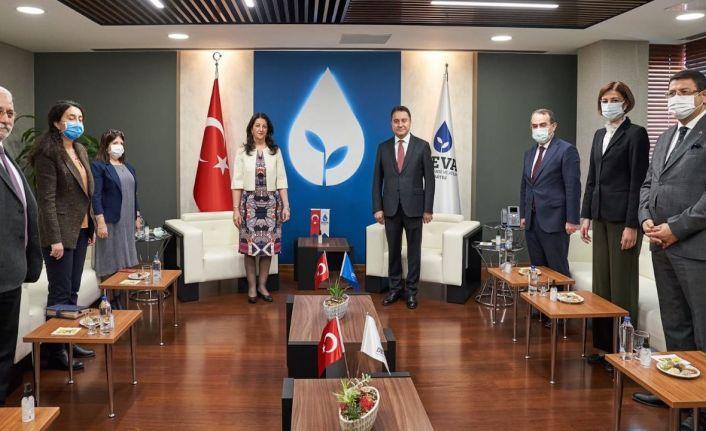 HDP Eş Genel Başkanı Pervin Buldan'dan Babacan'a ziyaret