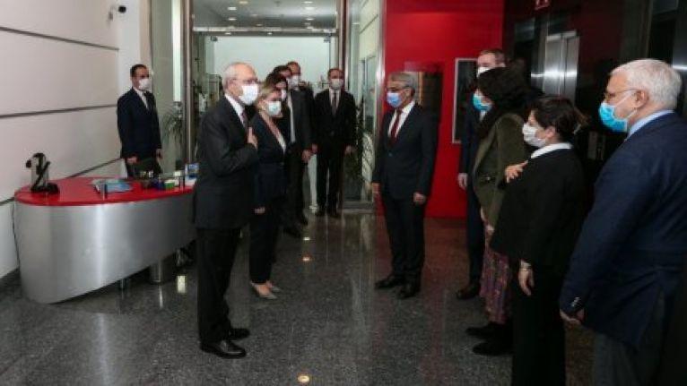 HDP Eş Genel Başkanı Mithat Sancar'dan Kemal Kılıçdaroğlu'na ziyaret