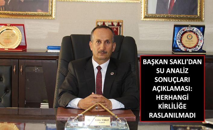 Şemdinli Belediye Başkanı Saklı'dan su analiz açıklaması