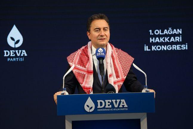Babacan Hakkari'de: Kürtçeyi yeniden bilinmeyen bir dil yaptığınız için özür dileyin