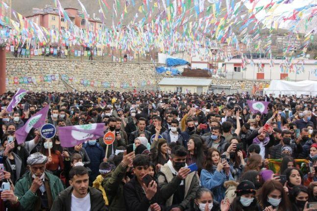 Hakkari Mekrez'de Newroz kutlaması