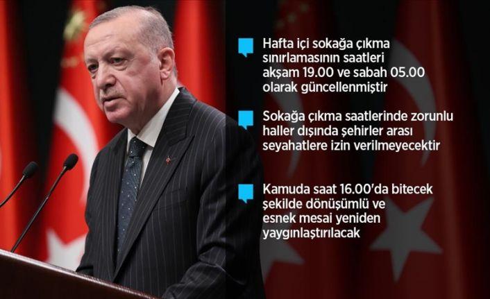Erdoğan: İki hafta kısmi kapanma uygulamasına geçiyoruz
