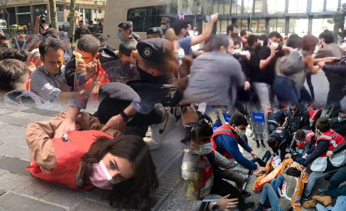 1 Mayıs Emek ve Dayanışma Günü'nde Taksim'e çıkmak isteyen gruplara polis müdahale etti