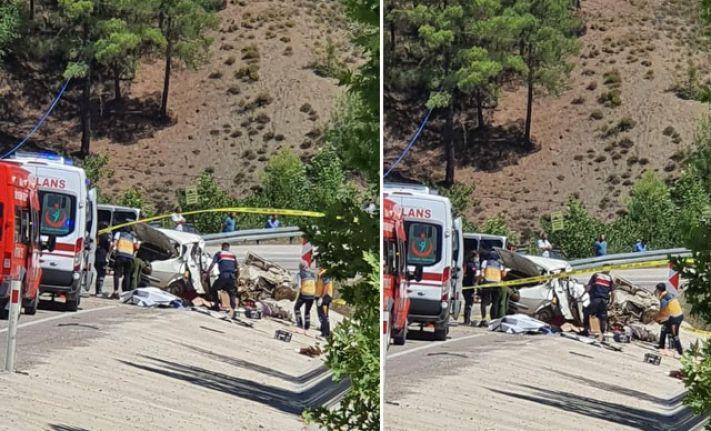 Adana'da düğün yolunda kaza: 5 ölü, 1 yaralı