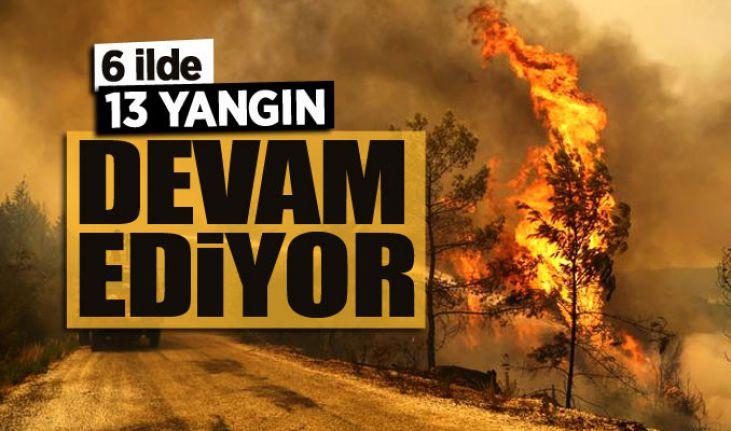Bakan Pakdemirli: 6 ilde 13 farklı yangın devam ediyor