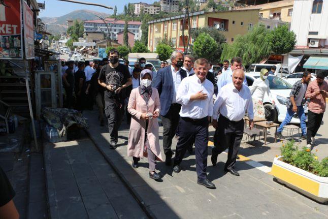 Gelecek Partisi Lideri Ahmet Davutoğlu Şemdinli'de
