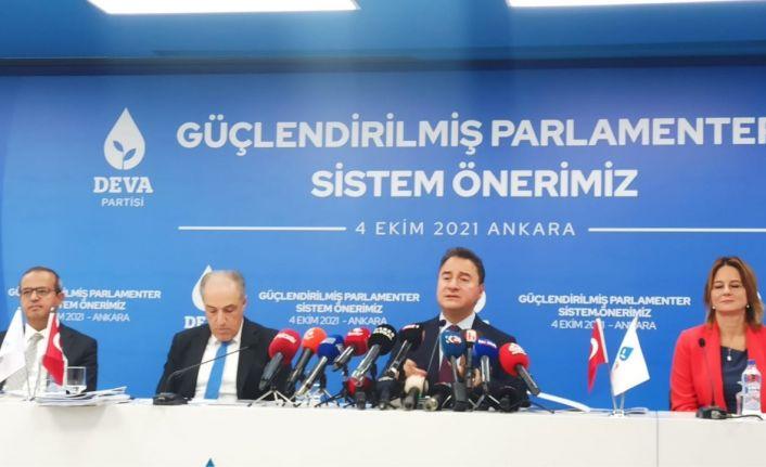 DEVA'nın 'parlamenter sistem' önerileri: Cumhurbaşkanı 1 dönem 7 yıl görev yapacak