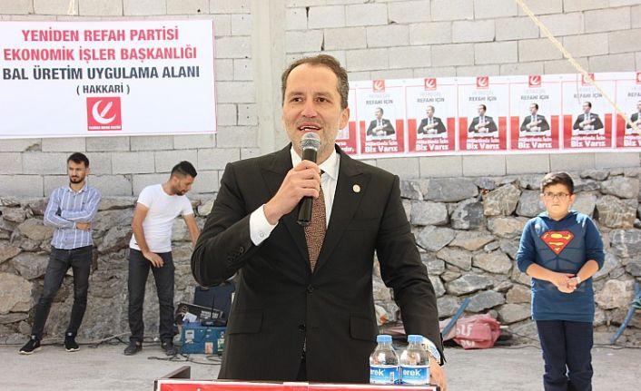 Yeniden Refah Partisi Genel Başkanı Fatih Erbakan, Hakkari'de konuştu