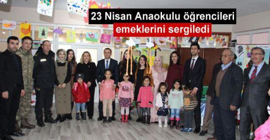 23 Nisan Anaokulu öğrencileri emeklerini sergiledi