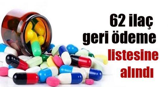 62 ilaç geri ödeme listesine alındı