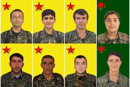 9 YPG / YPJ savaşçısının kimliği açıklandı