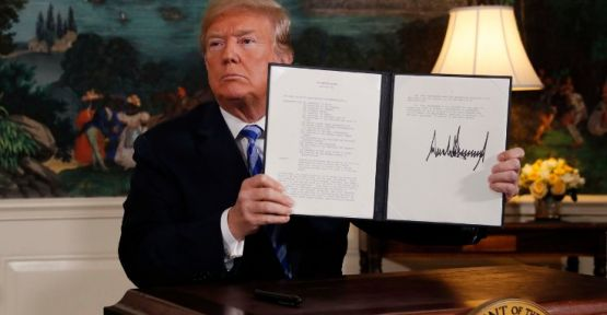 ABD, İran'la nükleer anlaşmadan çekildi