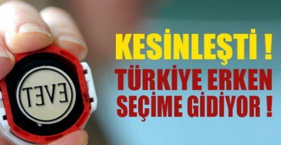 Açıklama geldi! Türkiye seçime gidiyor