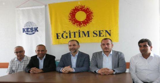AK Parti Milletvekili Eğitim Sen'i ziyaret etti
