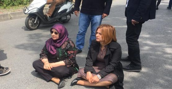 Anneler gözaltına alındı: İki vekil oturma eylemi başlattı