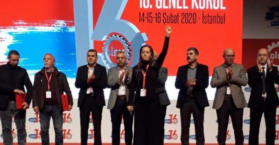 Arzu Çerkezoğlu yeniden DİSK Genel Başkanı