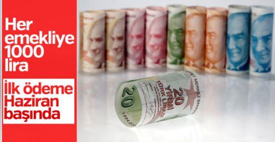 Bakan Sarıeroğlu: Emekliye bin TL ikramiye haziran başında ödenecek