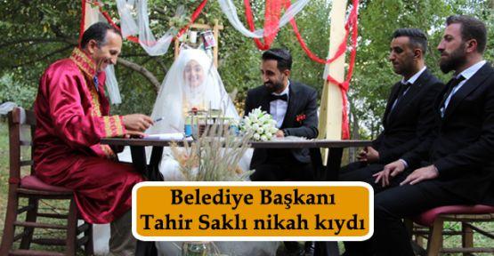 Belediye Başkanı Tahir Saklı nikah kıydı