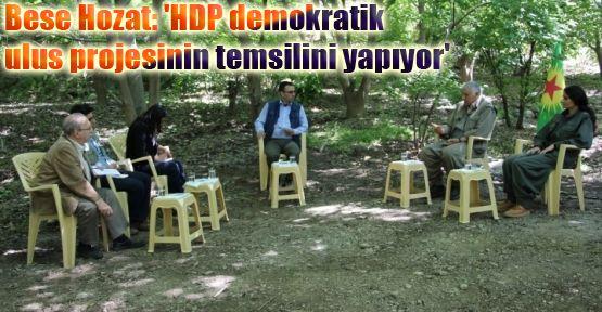 Hozat: 'HDP demokratik ulus projesinin temsilini yapıyor'