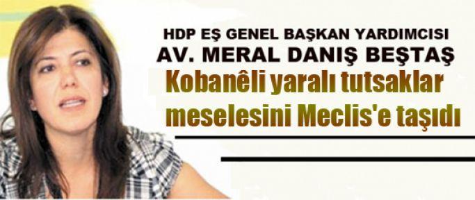 Beştaş, Kobanili yaralı tutsaklar meselesini Meclis'e taşıdı