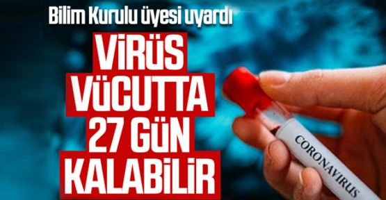Bilim Kurulu Üyesi Çelik: Virüs 27 gün vücutta kalabilir