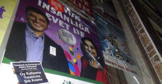 Bursa'da HDP seçim bürosuna taşlı saldırı
