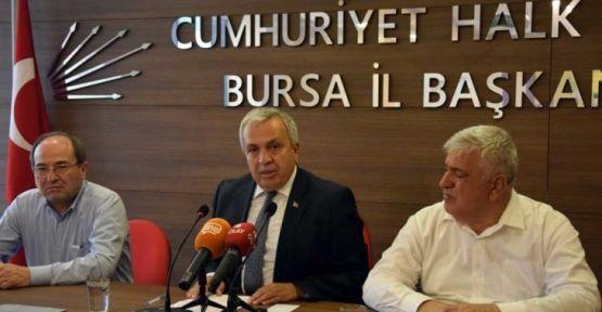 CHP Bursa İl Başkanı Şadi Özdemir: Açlık grevine başlıyoruz