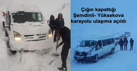Çığın kapattığı Şemdinli- Yüksekova karayolu ulaşıma açıldı