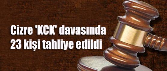Cizre 'KCK' davasında 23 kişi tahliye edildi