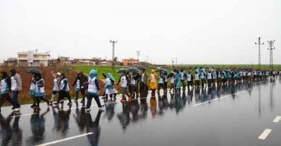 Cizre'den Diyarbakır'a Öcalan yürüyüşü 3. gününde