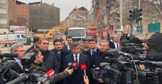 Davutoğlu: Deprem için toplanan her kuruş deprem için harcanmalı