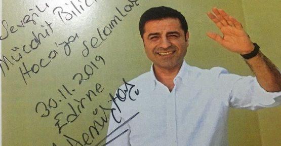 Demirtaş'tan Mücahit Bilici'ye: Özgür yarınlarda görüşmek üzere