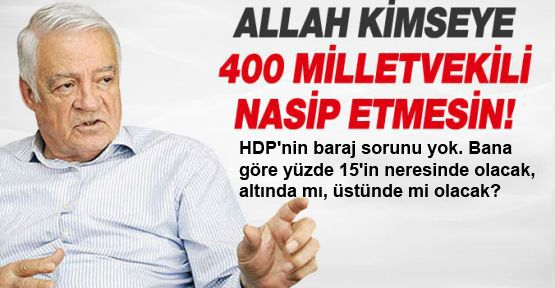 Dengir Mir Mehmet Fırat: 'HDP'nin baraj sorunu yok'