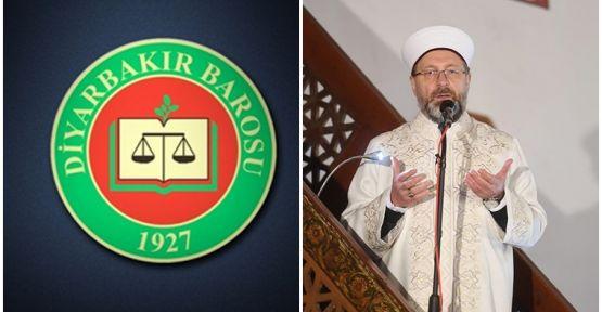 Diyarbakır Barosu'na da Diyanet soruşturması
