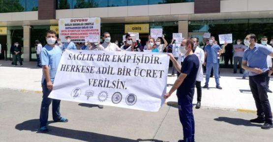 Ek ödeme 'müjdesi' protesto edildi: Tüm çalışanları kapsamalı