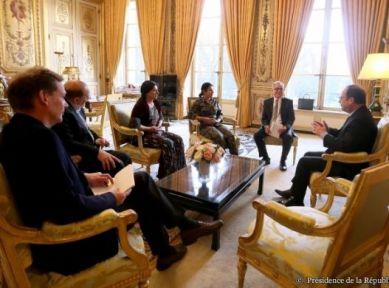 Fransa Rojava heyetiyle görüşmenin fotoğraflarını yayınladı