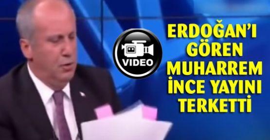 Erdoğan için konuşması kesilen Muharrem İnce canlı yayını terk etti
