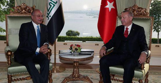 Erdoğan Irak Cumhurbaşkanı Berham Salih'i kabul etti