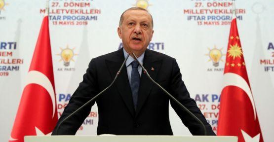 Erdoğan: Seçimi kazandığı halde oyları çalınan AK Parti