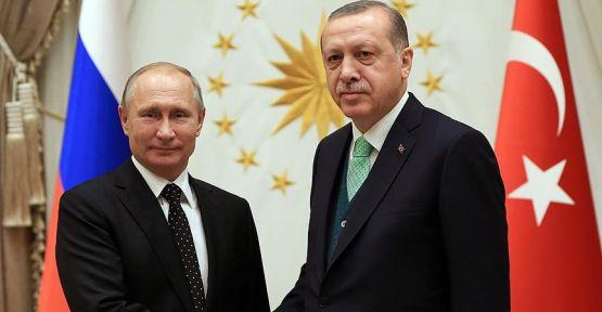 Erdoğan ve Putin, Suriye'yi görüştü