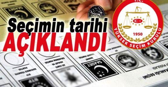 YSK: Erken seçim 1 Kasım'da yapılacak