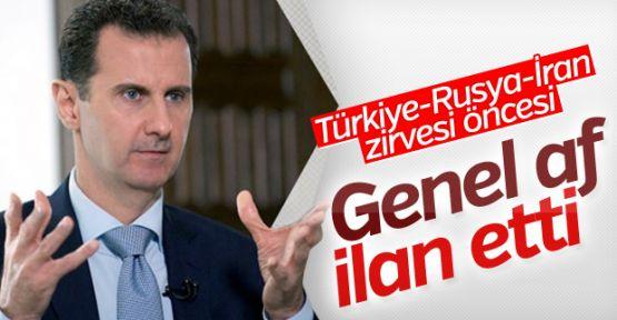 Esad Ankara'daki üçlü zirve öncesi genel af ilan etti